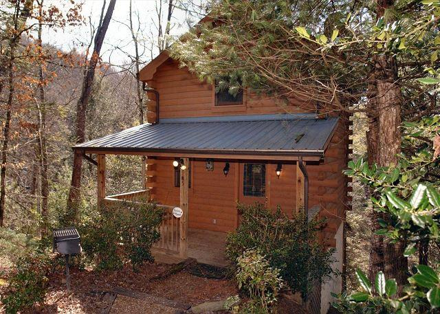 Precious Moments #124- Outside View of the Cabin - Romantic 1 Bedroom Cabin Between Gatlinburg and Pigeon Forge with Hot Tub - Sevierville - rentals