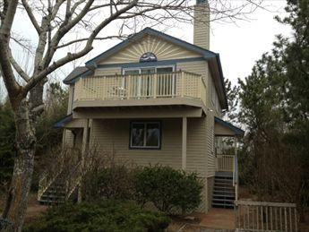 Tree provides shade & privacy for deck in summer! - Woodland Hideaway 39513 - Cape May Point - rentals