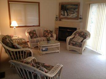 Living room. Slider to deck. - Woodland Hideaway 39513 - Cape May Point - rentals