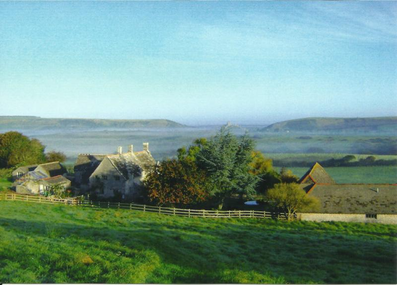Scoles Manor on left and the barns on the right - The Dairy, Scoles Manor - Corfe Castle - rentals