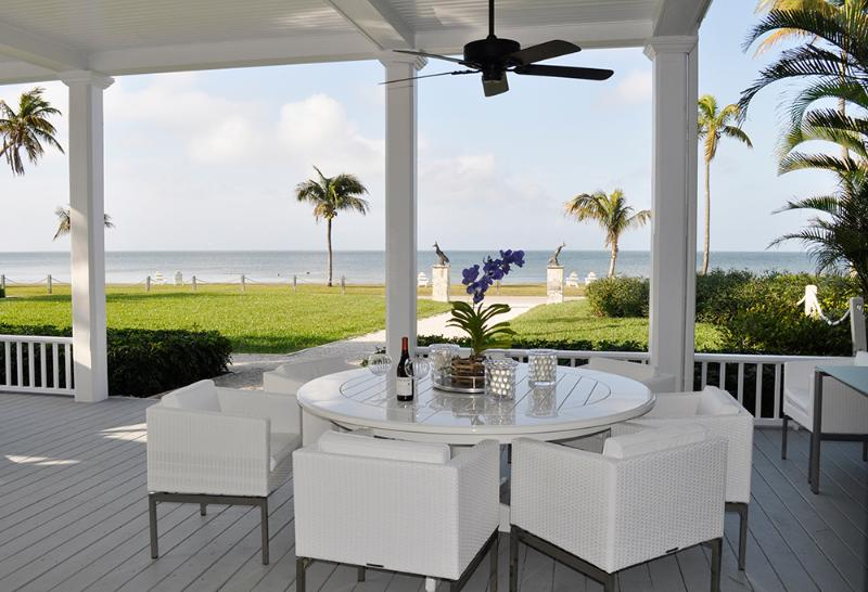 Water view from the front porch of Charlotte Harbor - Lahser House, Spectacular historic waterfront home - Bokeelia - rentals