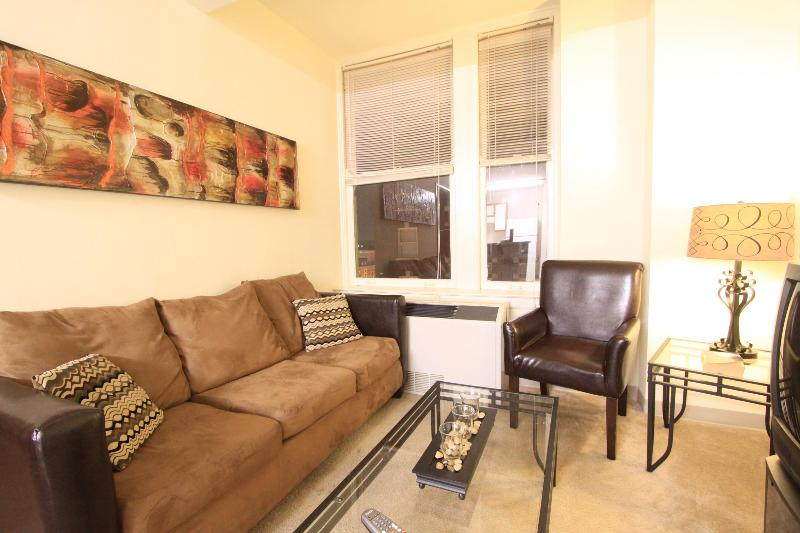 Living Room seating area - Fully Furnished 1 Bedroom Downtown Memphis Apt - Memphis - rentals