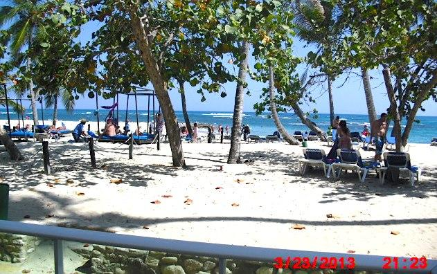 Actual View from my Terrace - BEACHFRONT STUDIO APT PARADISE BEACH, PUERTO PLATA - Puerto Plata - rentals