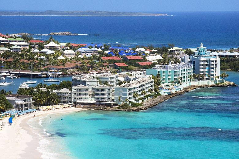 Aerial - St Martin - St Maarten Vacation Rental, Oyster Bay - Oyster Pond - rentals