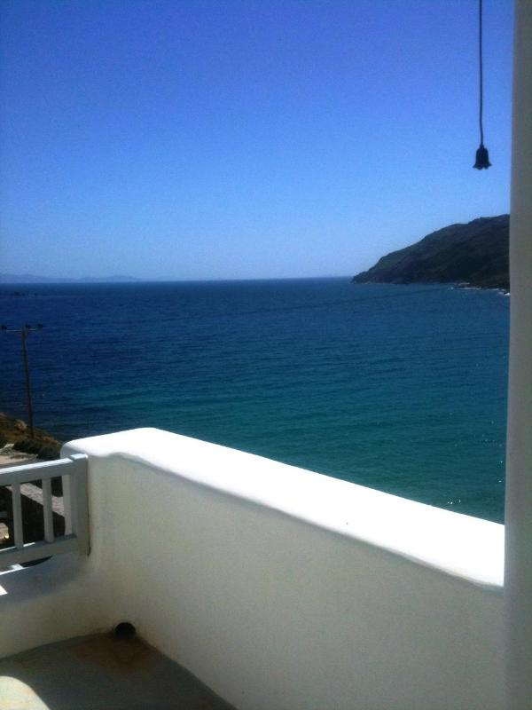 SEA VIEW FROM PRIVATE BEDROOM - House 2 (3 Private Bedrooms) By The Beach Of Kalo Livadi With Sea View - Kalo Livadi - rentals