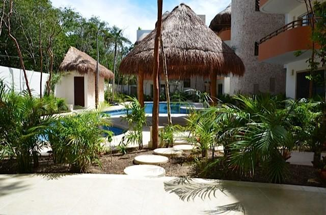 view from our patio - Casa Pelicano - 2bdrm Condo with Beautifully Tiled - Tulum - rentals