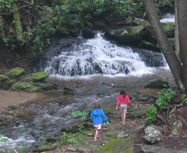 Waterfall at Laughing Waters Lodge - Laughing Waters Lodge Overlooking Hickory Nut Creek Waterfall - Gerton - rentals