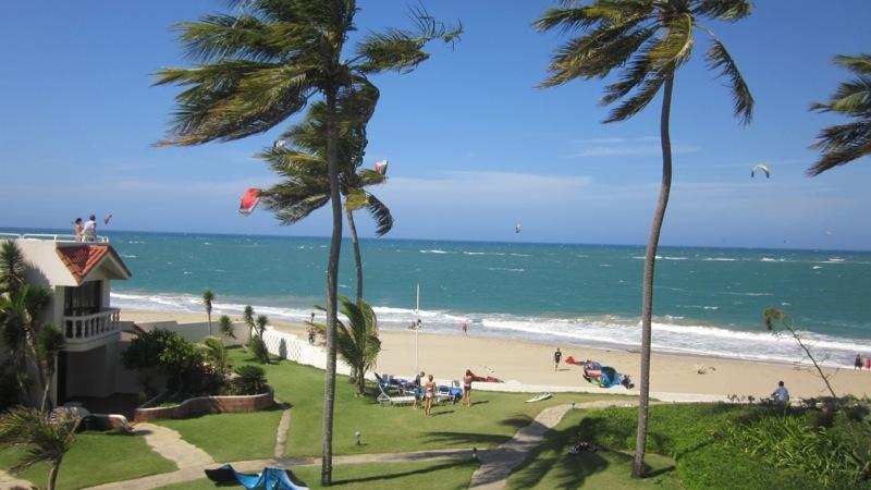 Kiting at Cabarete Beach Houses on a Winter Day - Cabarete Beach House 2 BR at Nanny Estate - Cabarete - rentals