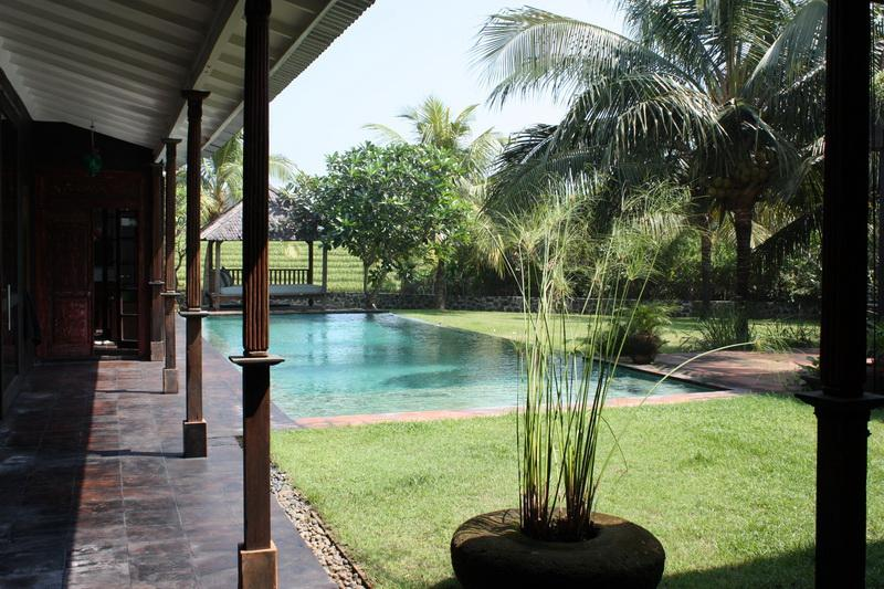 Spacious living room opening onto your private pool and tropical lush garden - Spacious, High Standing Villa with rice field view - Canggu - rentals