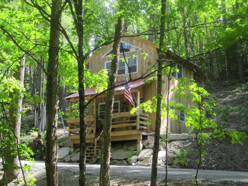 Front of Cabin - Hinkley Brook Cabin, Romantic Getaway In The Trees - Grafton - rentals