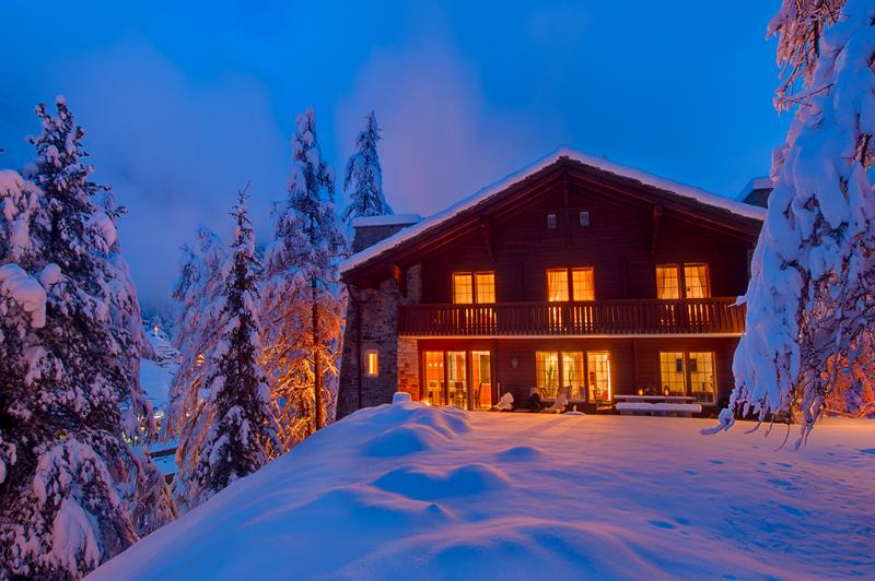 Chalet Les Ecureuils by night - 5 bedroom chalet with stunning Matterhorn Views. - Zermatt - rentals