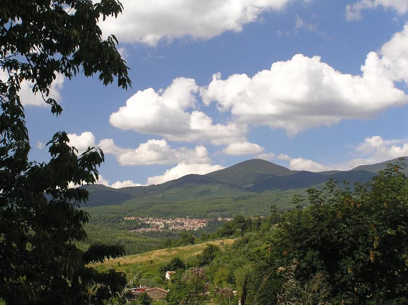 Vieuw on Santa Fiora & Monte Amiata from Podere di Maggio - Beautiful Rental Farmhouses in Tuscany - Santa Fiora - rentals