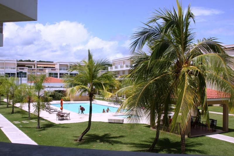 Pool view from balcony - Beautiful Beachfront Condo El Yunque Rainforest - Rio Grande - rentals