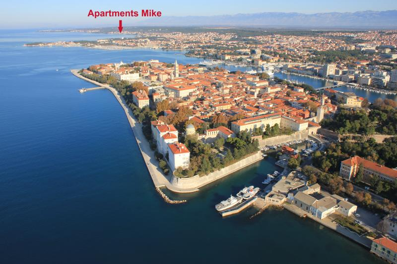 Apartments Mike - 3 bedroom apartment with 2 balconies and sea-view - Zadar - rentals