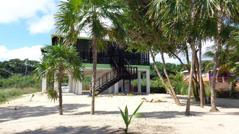 Sea side view. - 2 BR Beachfront Sunrise Cabana - Hopkins, Belize ( - Hopkins - rentals