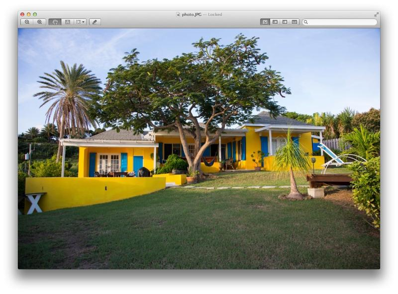 back of house facing sea & pool - Fabulous ocean view villa with pool - Falmouth - rentals