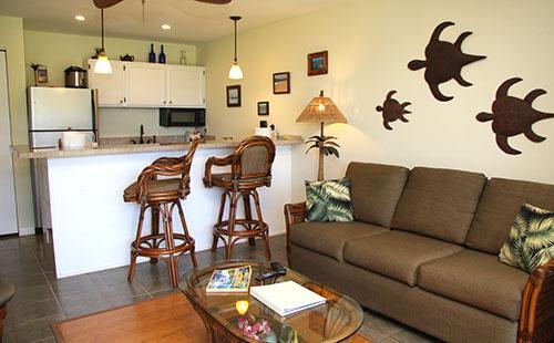 Living area - Molokai_Shores 214 - Kaunakakai - rentals