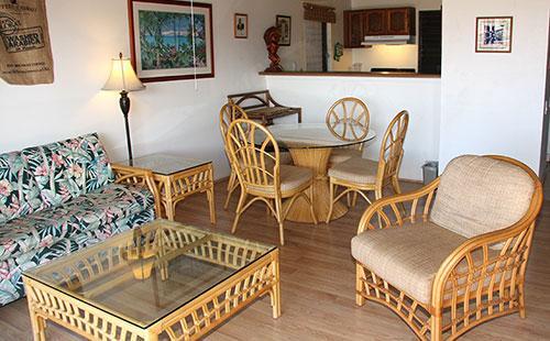 Living area from lanai - Ke Nani Kai 203 - Maunaloa - rentals