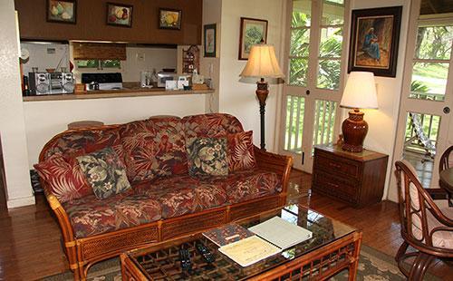 Living area from lanai - Paniolo Hale M1 - Maunaloa - rentals