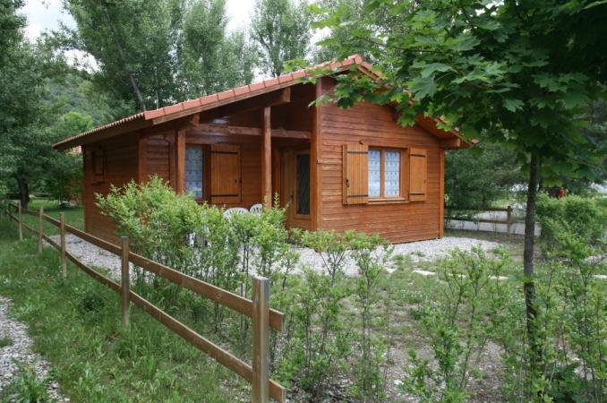 36m2 wooden chalet - Wooden chalet on a lakeside campsite - Veynes - rentals