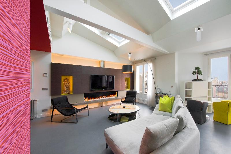 Living Room - Elysee Penthouse Loft and Terrace - Paris - rentals