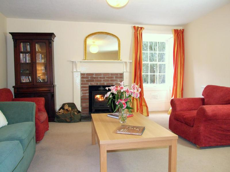Living room with a wood burning - The Garden Apartment - Wick - rentals