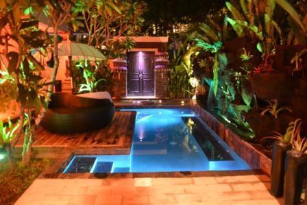 Pool at Night - Zen  Beach Villa - Denpasar - rentals