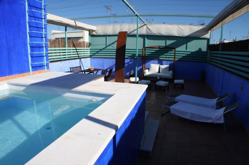 Private terrace with private pool - THE HOUSE OF ACTOR: FANTASTIC DUPLEX WITH PRIVATE POOL AND TERRACE - Seville - rentals