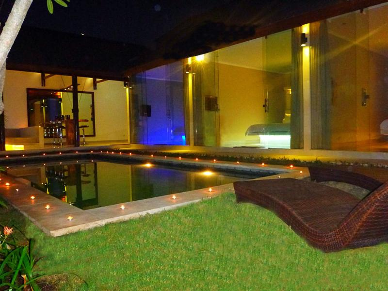 Beautiful pool view from all bedrooms and from living room and bar area! - Seminyak New Chic 3 Bed/3 Bath pool - Seminyak - rentals