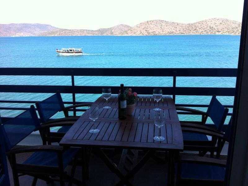 Sea-front, 2-bedroom Apartment (for 5 guests) - Image 1 - Elounda - rentals