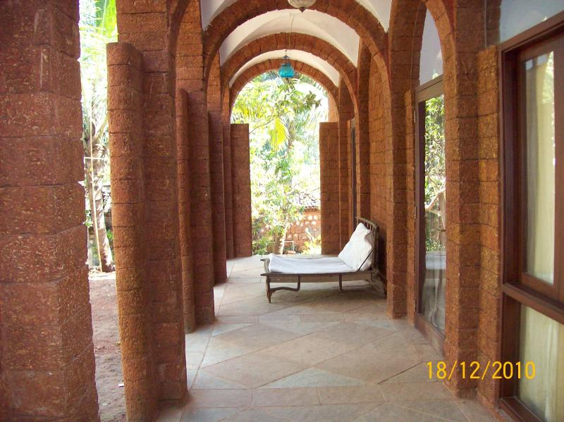 The vaulated verandah - Moira Villa in North Goa - Moira - rentals