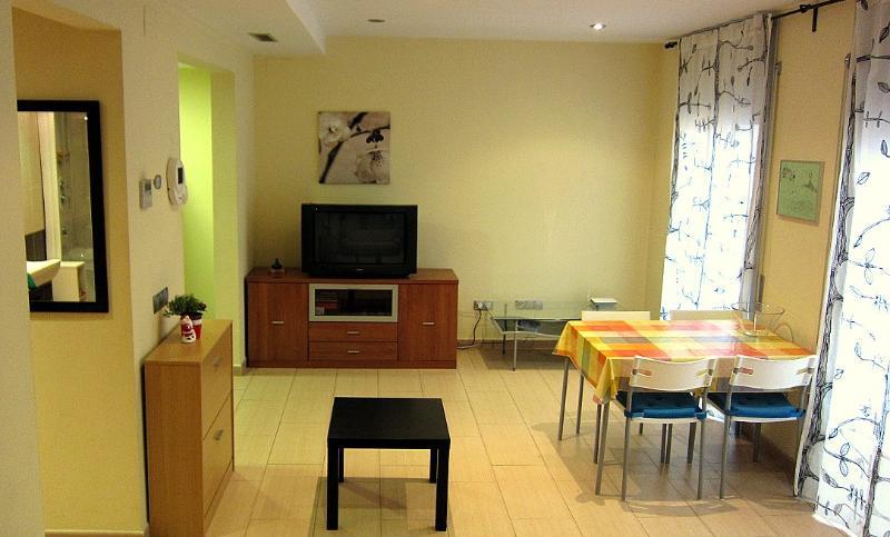 Living room with double Sofa-Bed - Apartament 100 mts. from beach - Lloret de Mar - rentals