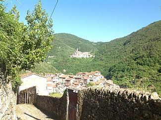 View from top of our street - Casa Pigna, charming village house, stunning views - Pigna - rentals