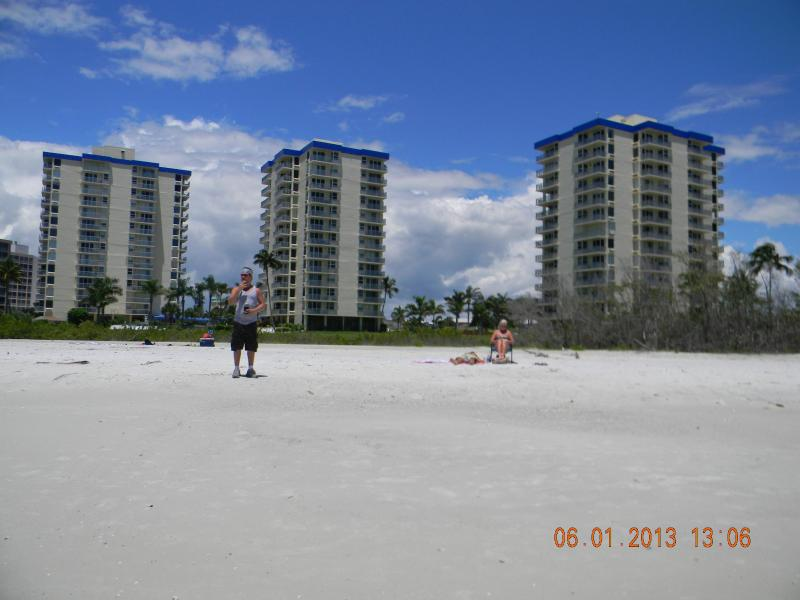The beach in front of Estero Beach and Tennis - Eighth Floor Beach Front Condo and Tennis Club from $550.00 a week - Fort Myers Beach - rentals