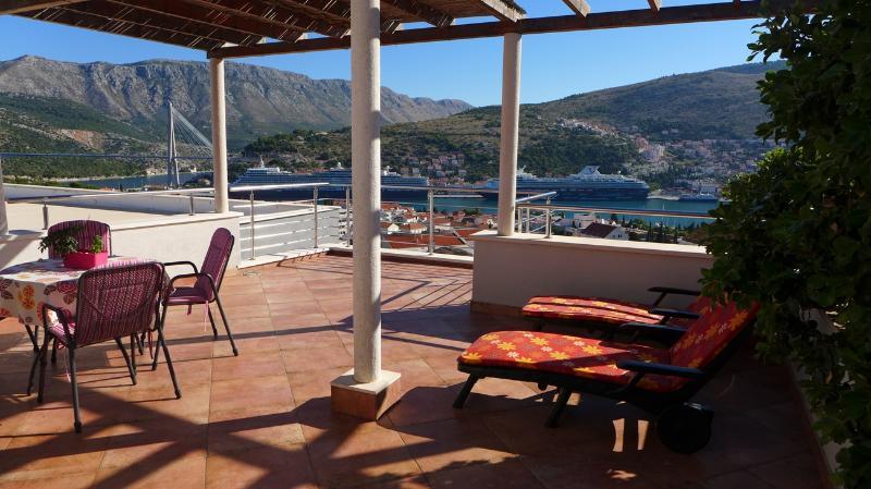 Terrace - Villa Diana: Amazing Apartment AnnaMaria, Awsome! - Dubrovnik - rentals