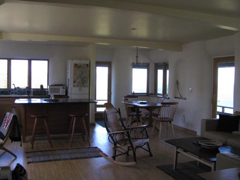 1st floor view dining and kitchen - World-class view overlooking Moosehead Lake - Greenville - rentals