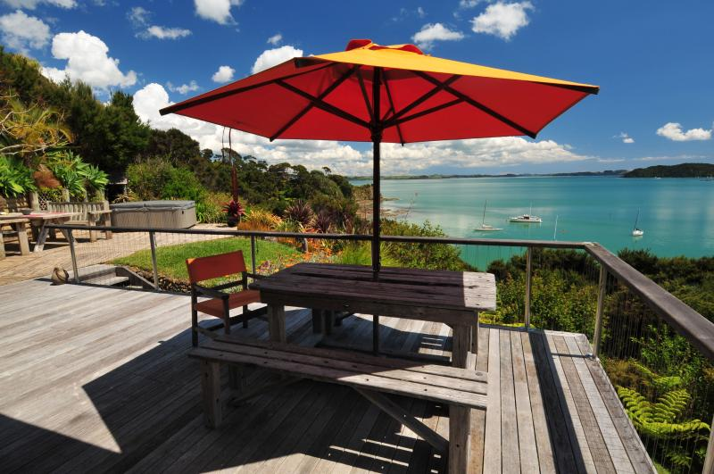 View From the Breakfast Deck, North Facing, Sheltered and Warm! - Bay Of Islands Beach House - Absolute Beachfront ! - Russell - rentals