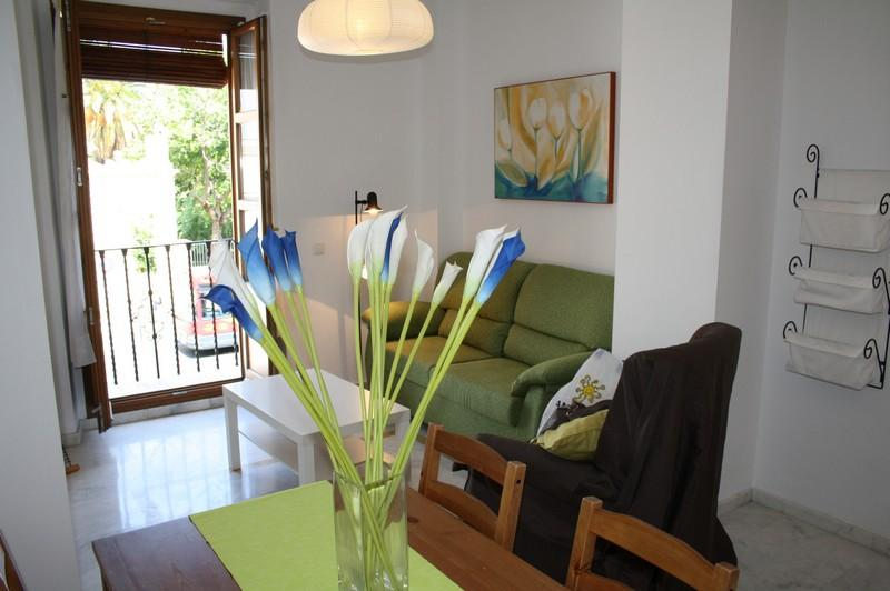 Living room with sofa bed and views to the street - VALLEY GARDENS APARTMENT - Seville - rentals