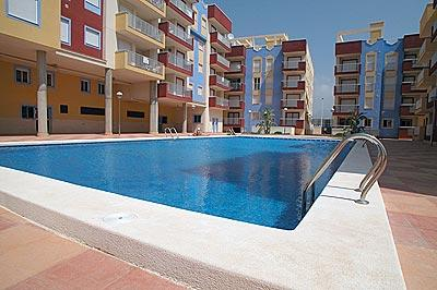 the pool - penthouse apartment, beautiful views,sleeps 4 - Puerto de Mazarron - rentals