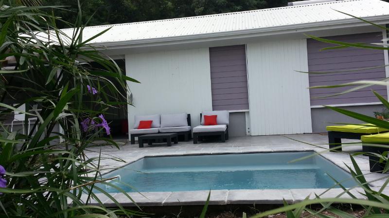 Terrasse avec piscine privative - Villa de charme entre mer et montagnes (1 chambre) - Le Diamant - rentals
