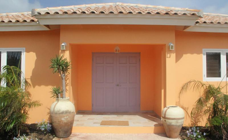 Entrance to apartment 1, apt.1 also has a poolside patio and a private back patio off the bedroom - La Boheme Aruba - Superior Apt. #1 with pool 800 y - Palm/Eagle Beach - rentals