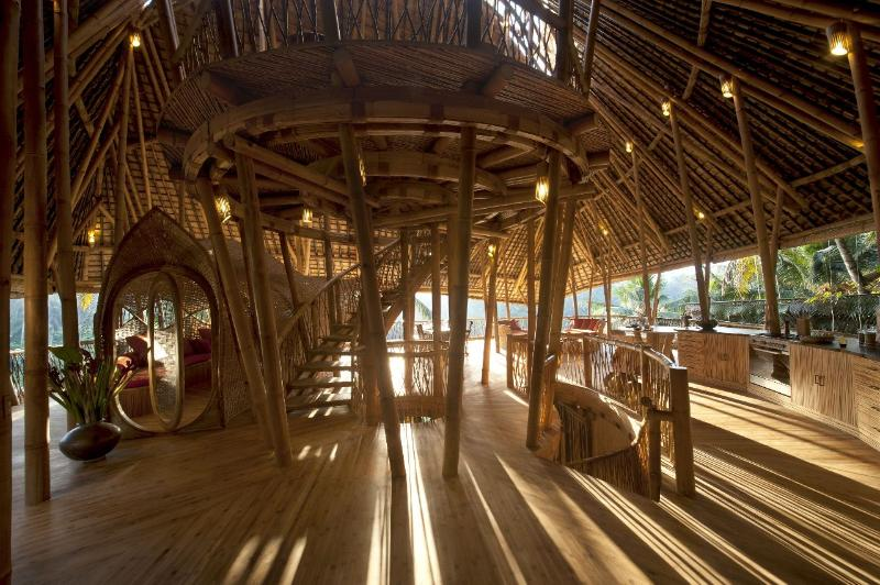 Guests enter Sunrise House on the 3rd floor - Stunning All Bamboo 4 Storey House by River nrUbud - Bali - rentals