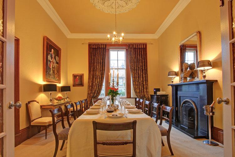 Dining room seats twelve in comfort and style - Bank House, Fife, Scotland - Letham - rentals