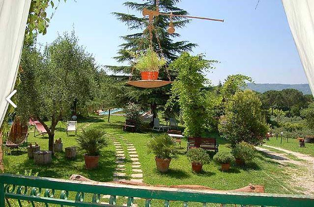 Garden view from the Terrace first floor - HAKUNA MATATA (No Worries) Villa whit pool 5x12 - Giove - rentals