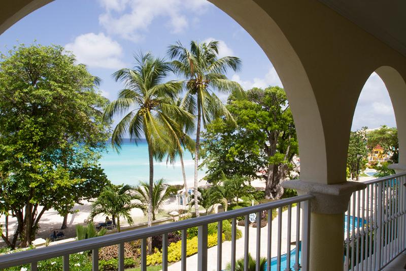 View from master bedroom of our condo - NEW Luxury Condo on Dover Beach,  Sapphire Beach - Dover - rentals
