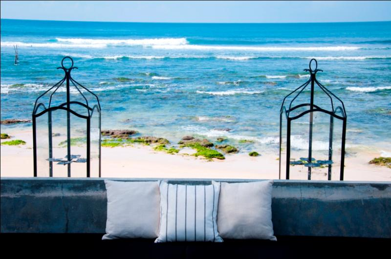 Outdoor seating area over looking the ocean - Ceilão Villas - Kabalana - Galle - rentals