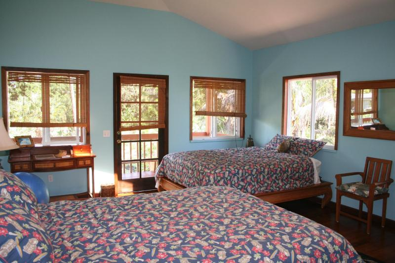 Large Bedroom - 2 queen sized beds - Sixty feet from the Pacific! - Pahoa - rentals