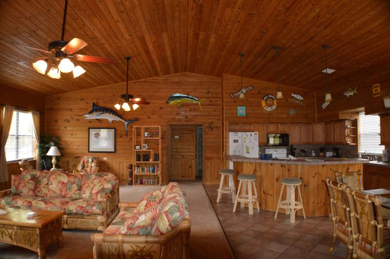 Center of house, living, family, dinning room and kitchen - Reel Paradise - Big Pine Key - Big Pine Key - rentals