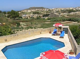 Pool and views - Razzett Ta Pawlu farmhouse with pool and nice view - Gharb - rentals
