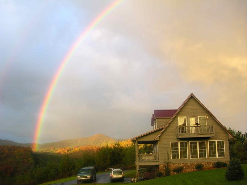 The End of the Rainbow - The Place on the Blue Ridge Parkway in NC - Laurel Springs - rentals
